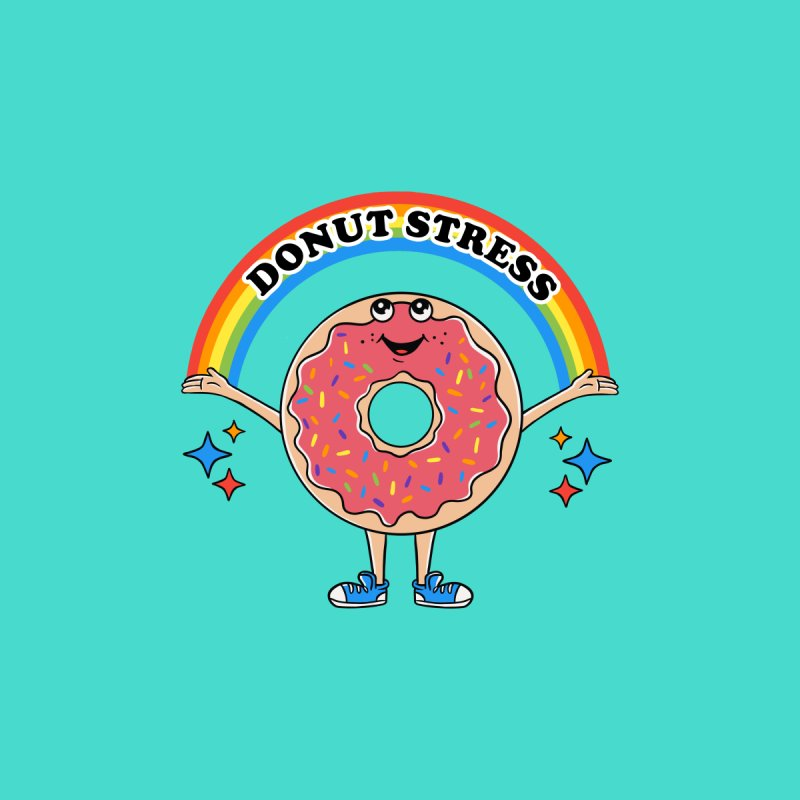 Funny Donut Stress Men's T-Shirt by coffeeman's Artist Shop