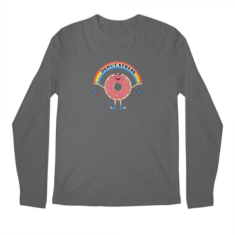 Funny Donut Stress Men's Longsleeve T-Shirt by coffeeman's Artist Shop