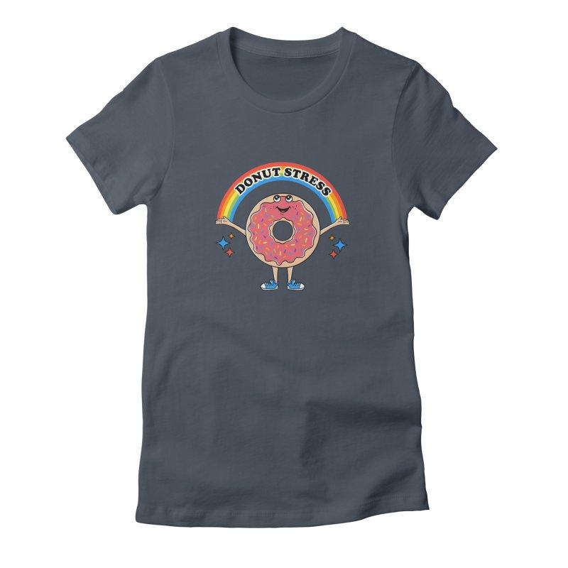 Funny Donut Stress Women's T-Shirt by coffeeman's Artist Shop