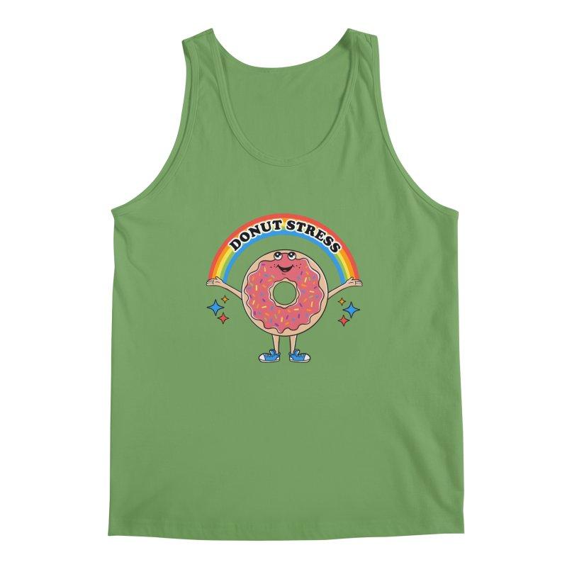 Funny Donut Stress Men's Tank by coffeeman's Artist Shop
