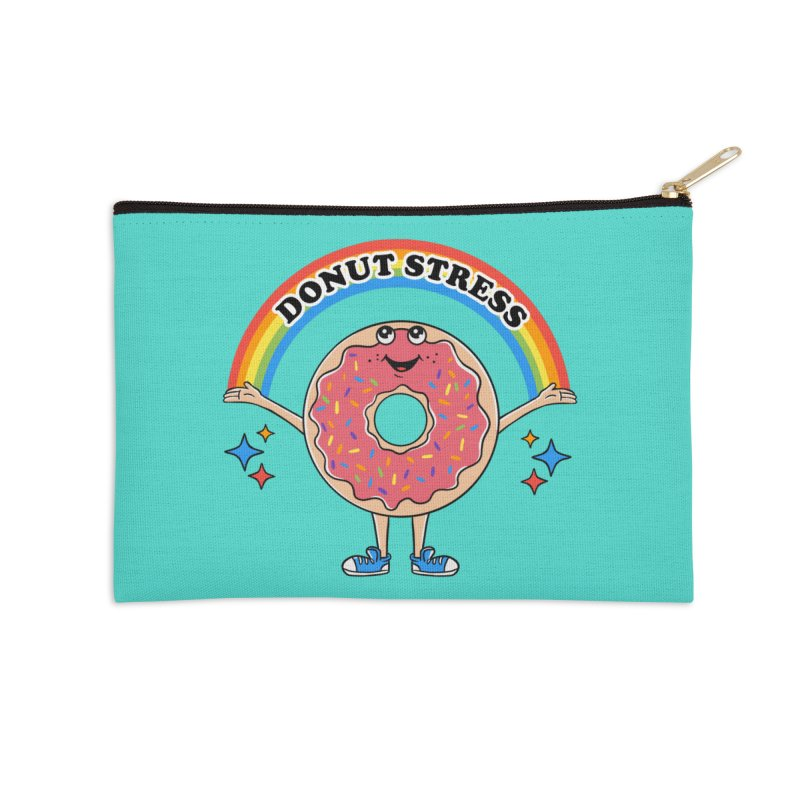 Funny Donut Stress Accessories Zip Pouch by coffeeman's Artist Shop
