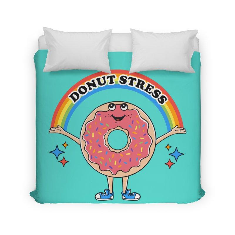 Funny Donut Stress Home Duvet by coffeeman's Artist Shop