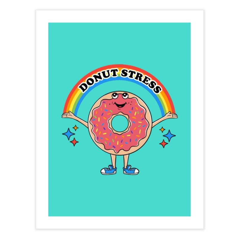 Funny Donut Stress Home Fine Art Print by coffeeman's Artist Shop