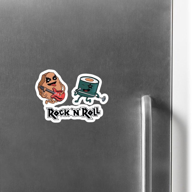 Funny Rock and Rock Accessories Magnet by coffeeman's Artist Shop