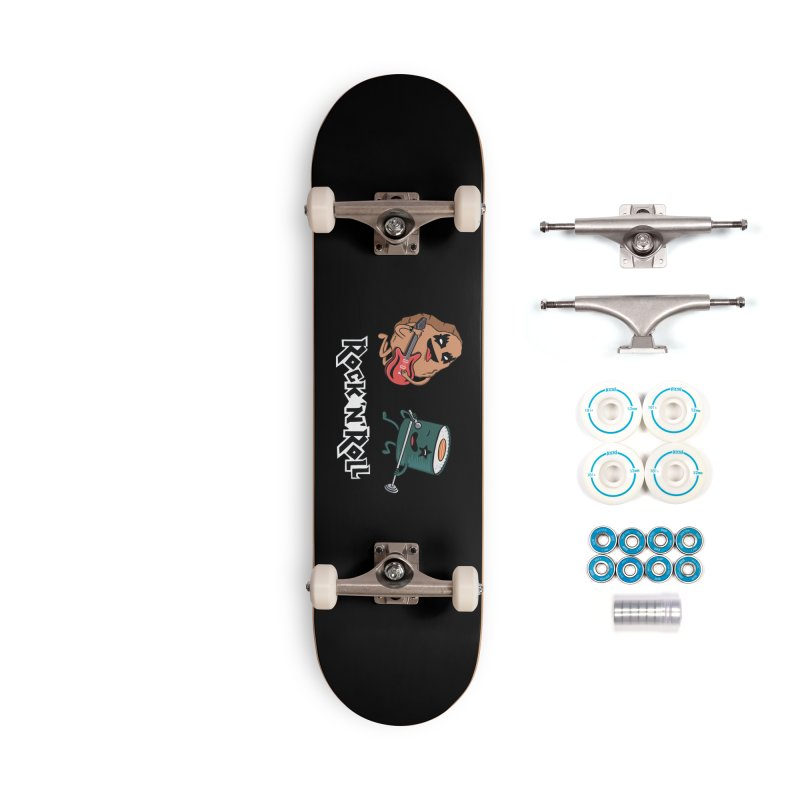 Funny Rock and Rock Accessories Skateboard by coffeeman's Artist Shop
