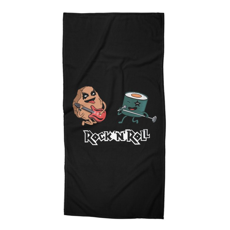 Funny Rock and Rock Accessories Beach Towel by coffeeman's Artist Shop