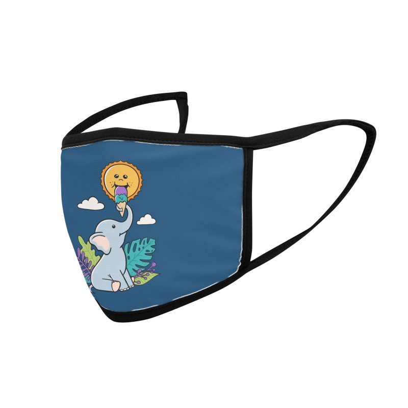 Funny Elephant and sun Accessories Face Mask by coffeeman's Artist Shop