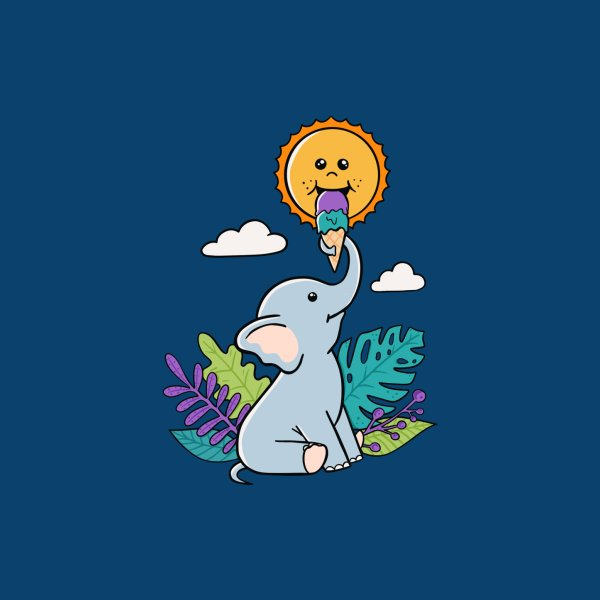 image for Funny Elephant and sun