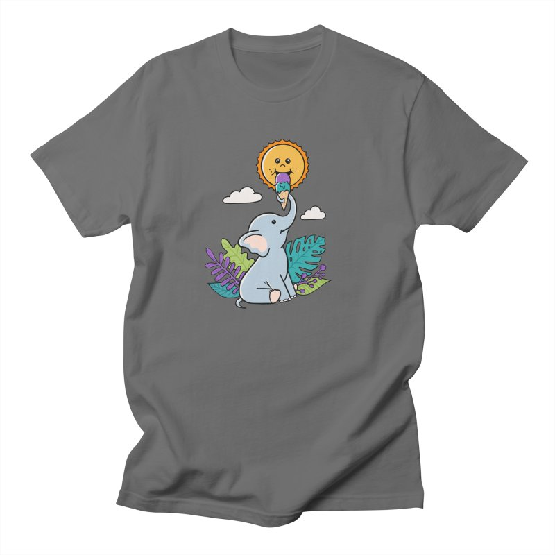 Funny Elephant and sun Men's T-Shirt by coffeeman's Artist Shop