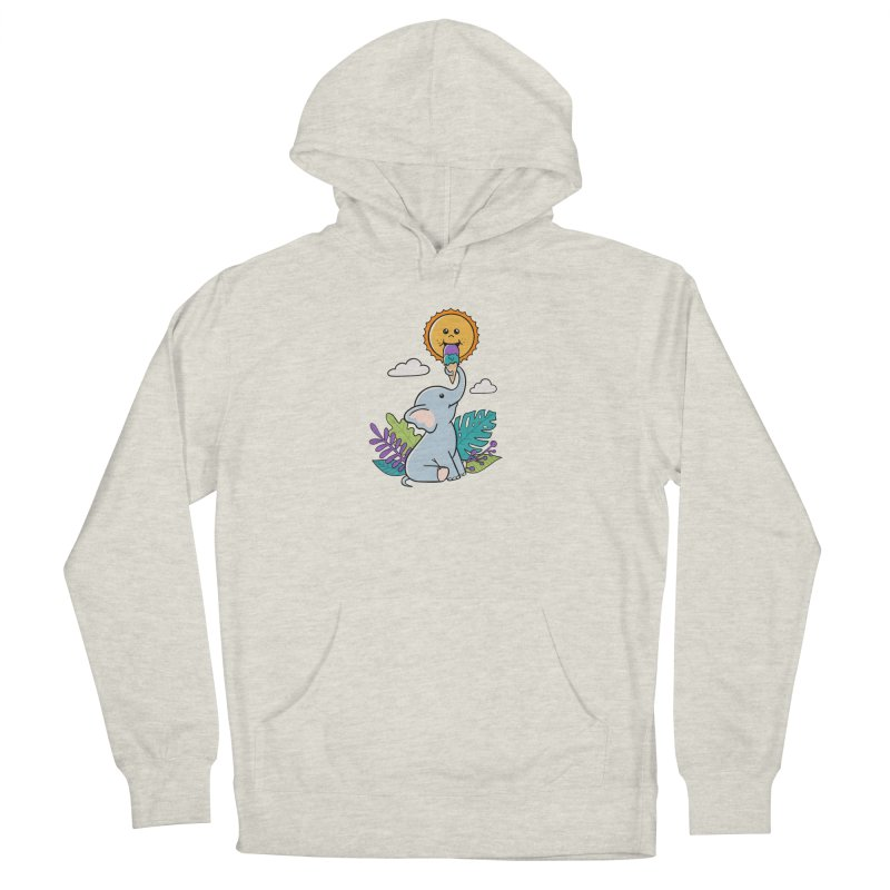 Funny Elephant and sun Men's Pullover Hoody by coffeeman's Artist Shop