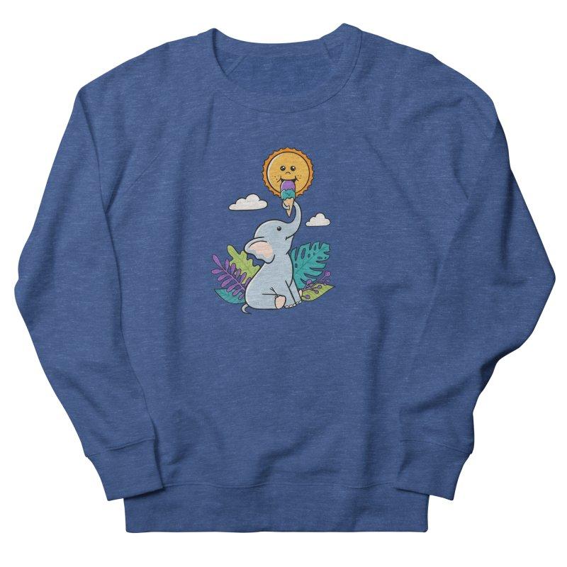 Funny Elephant and sun Men's Sweatshirt by coffeeman's Artist Shop