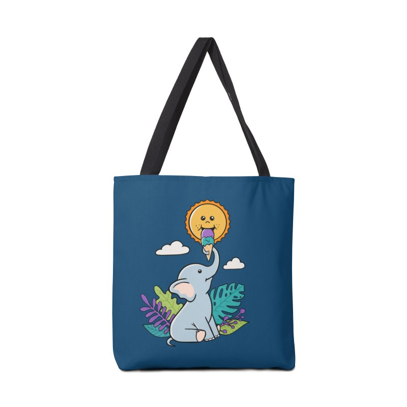 Funny Elephant and sun Accessories Bag by coffeeman's Artist Shop