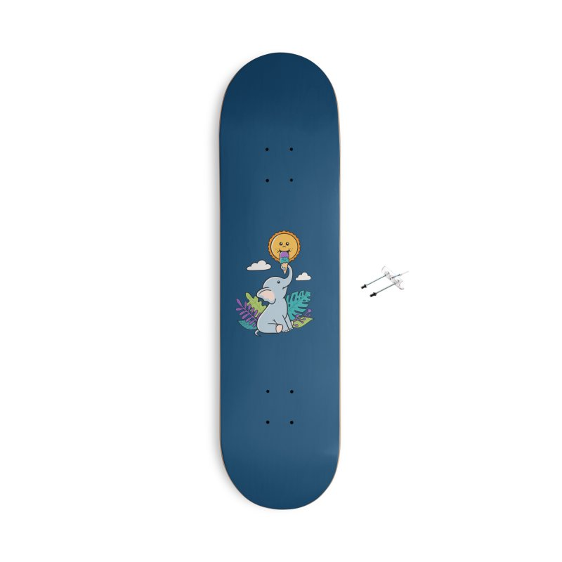 Funny Elephant and sun Accessories Skateboard by coffeeman's Artist Shop