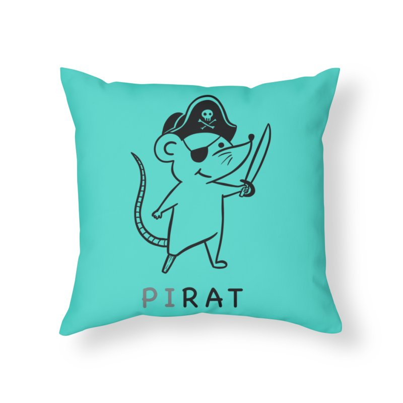 Pirat Home Throw Pillow by coffeeman's Artist Shop