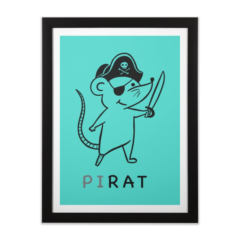 Pirat Home Framed Fine Art Print by coffeeman's Artist Shop