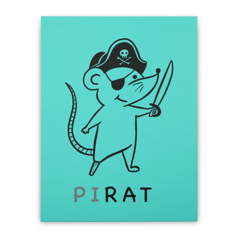 Pirat Home Stretched Canvas by coffeeman's Artist Shop
