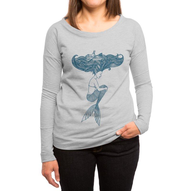 Mermaid Women's Longsleeve T-Shirt by coffeeman's Artist Shop
