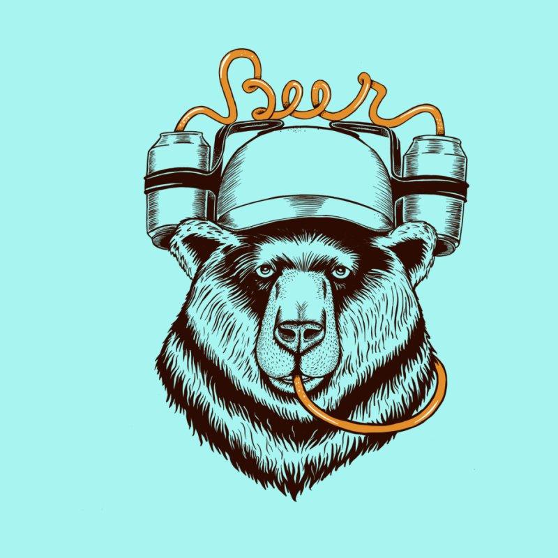 Bear love beer Men's T-Shirt by coffeeman's Artist Shop