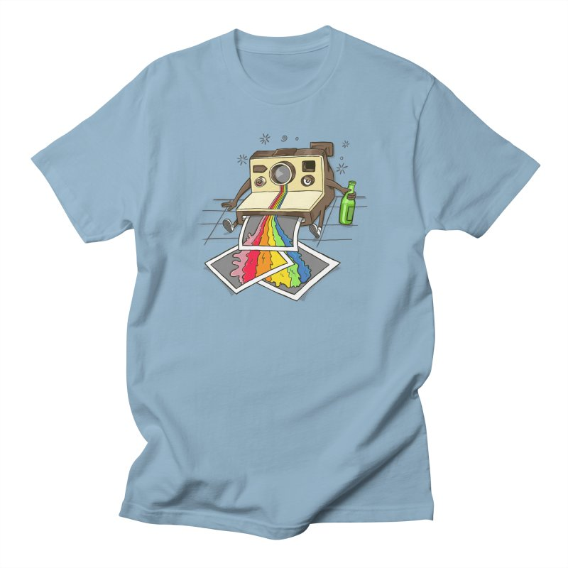 CAMERA DRUNK in Men's T-Shirt Light Blue by coffeeman's Artist Shop