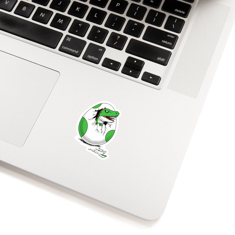 Dinosaur opening the egg Accessories Sticker by coffeeman's Artist Shop