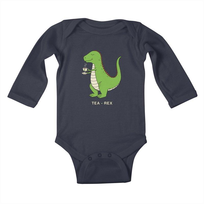 Dinosaur. Kids Baby Longsleeve Bodysuit by coffeeman's Artist Shop