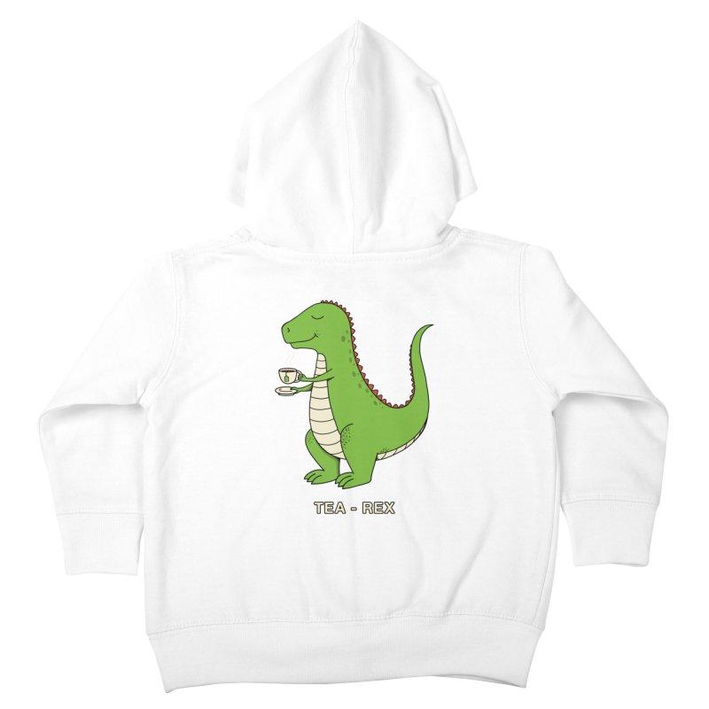 Dinosaur. Kids Toddler Zip-Up Hoody by coffeeman's Artist Shop