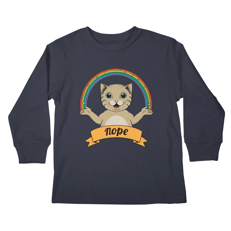 Cat Kids Longsleeve T-Shirt by coffeeman's Artist Shop