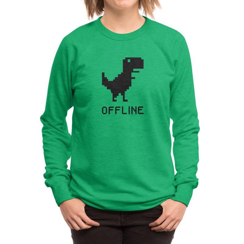 Dinosaur Women's Sweatshirt by coffeeman's Artist Shop
