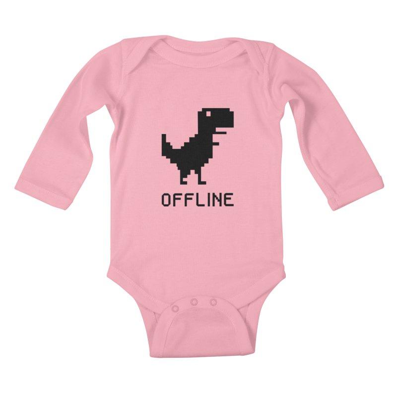 Dinosaur Kids Baby Longsleeve Bodysuit by coffeeman's Artist Shop