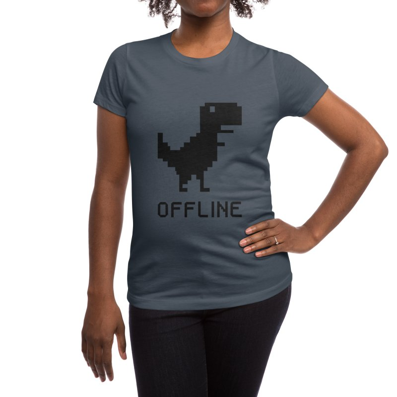 Dinosaur Women's T-Shirt by coffeeman's Artist Shop