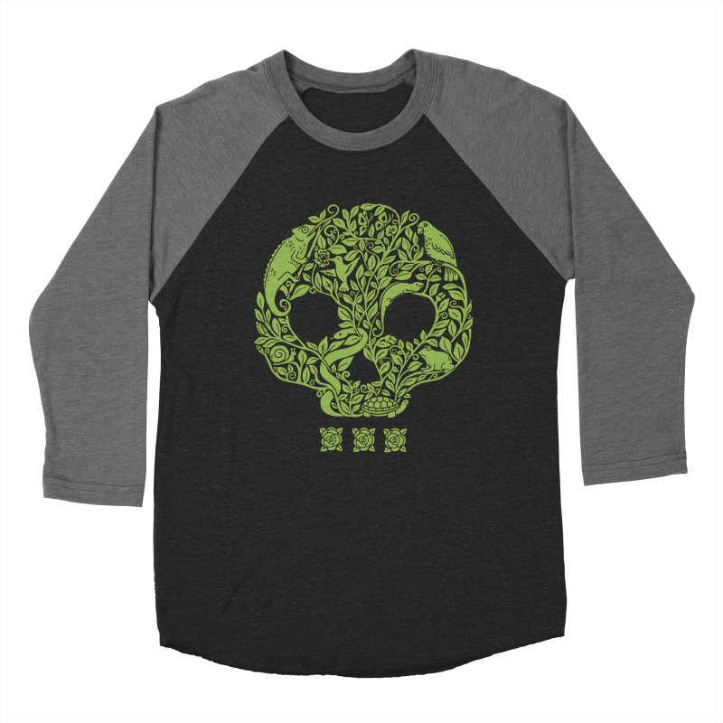 Skull Women's Baseball Triblend Longsleeve T-Shirt by coffeeman's Artist Shop