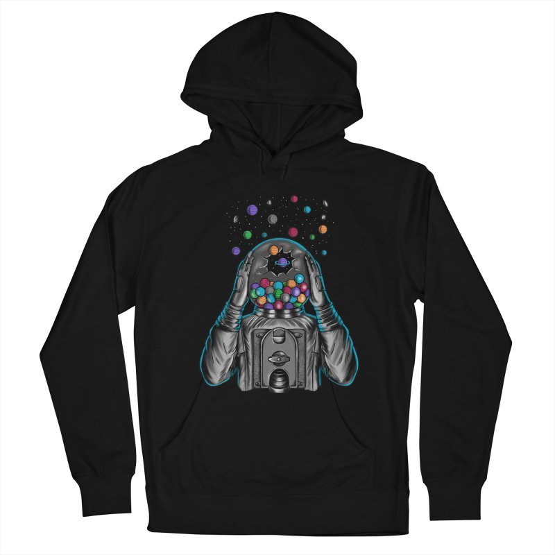 Space Men's French Terry Pullover Hoody by coffeeman's Artist Shop