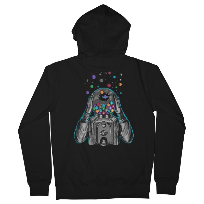 Space Men's French Terry Zip-Up Hoody by coffeeman's Artist Shop