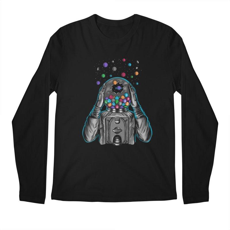 Space Men's Regular Longsleeve T-Shirt by coffeeman's Artist Shop