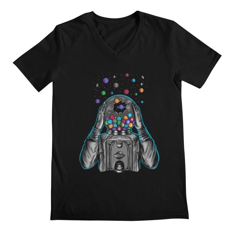 Space Men's Regular V-Neck by coffeeman's Artist Shop