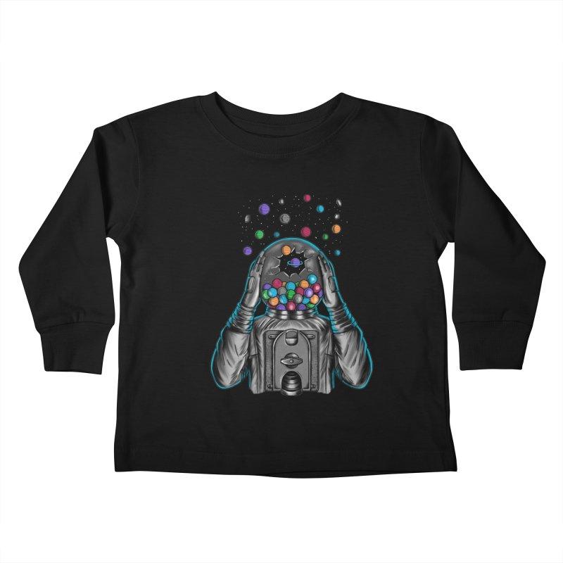 Space Kids Toddler Longsleeve T-Shirt by coffeeman's Artist Shop