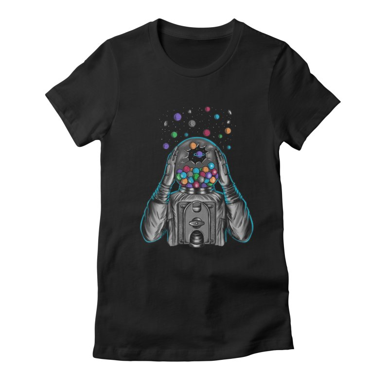 Space Women's Fitted T-Shirt by coffeeman's Artist Shop