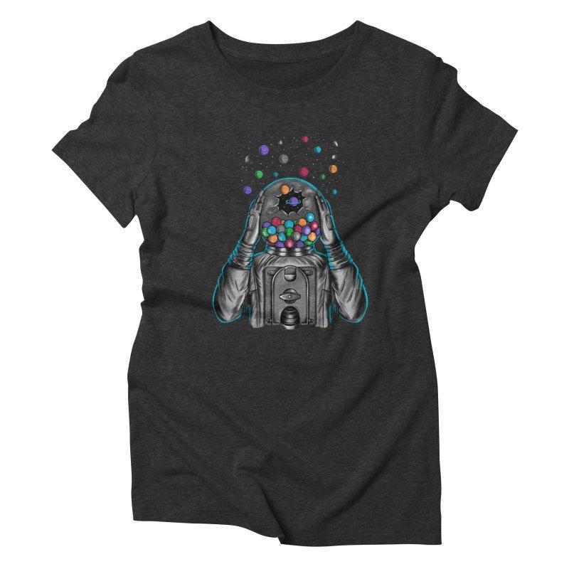 Space Women's Triblend T-Shirt by coffeeman's Artist Shop