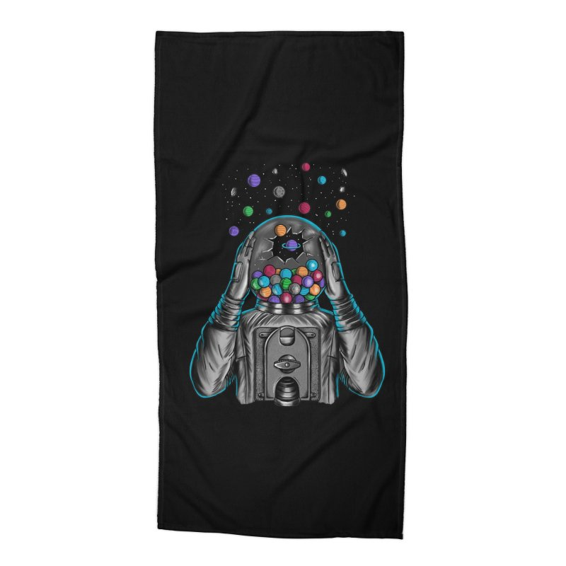 Space Accessories Beach Towel by coffeeman's Artist Shop