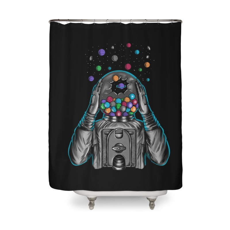 Space Home Shower Curtain by coffeeman's Artist Shop
