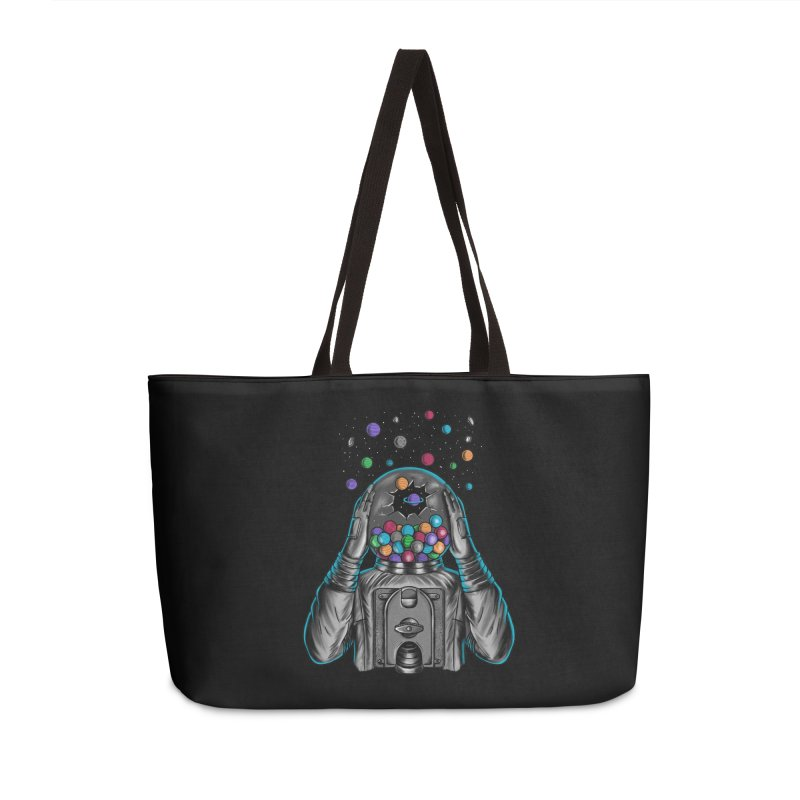 Space Accessories Weekender Bag Bag by coffeeman's Artist Shop
