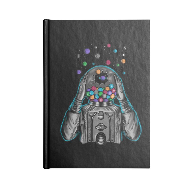 Space Accessories Lined Journal Notebook by coffeeman's Artist Shop