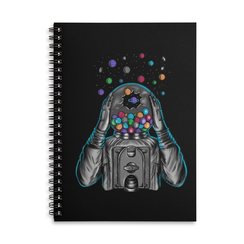 Space Accessories Lined Spiral Notebook by coffeeman's Artist Shop