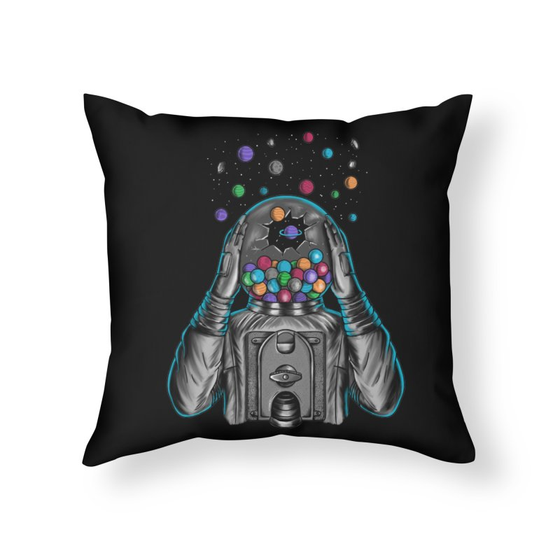 Space Home Throw Pillow by coffeeman's Artist Shop