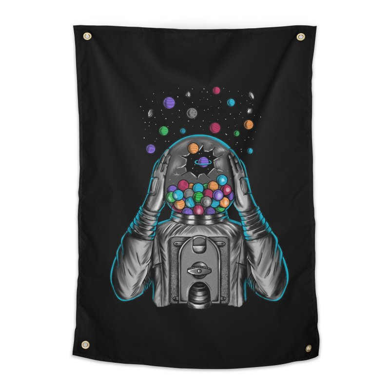 Space Home Tapestry by coffeeman's Artist Shop