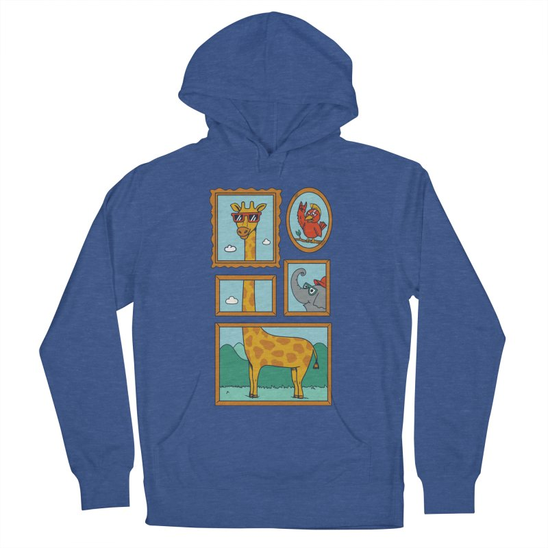 Animals Women's French Terry Pullover Hoody by coffeeman's Artist Shop