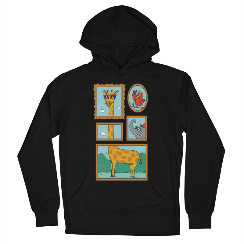 Animals Men's French Terry Pullover Hoody by coffeeman's Artist Shop