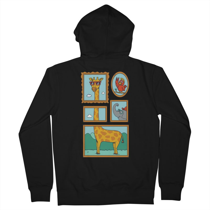 Animals Women's French Terry Zip-Up Hoody by coffeeman's Artist Shop