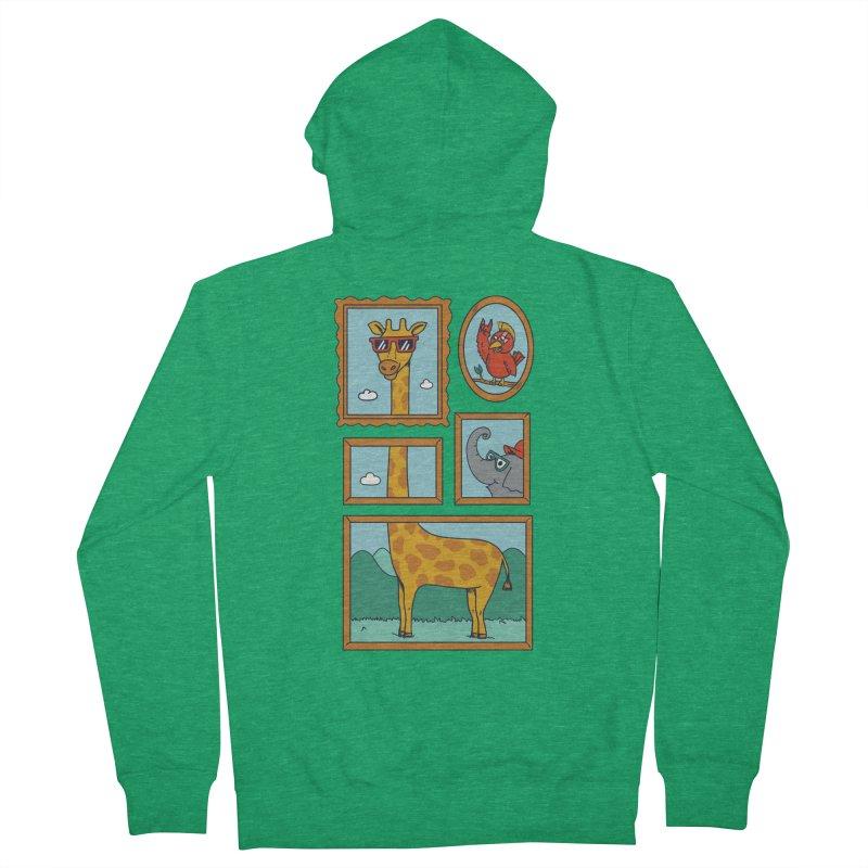 Animals Men's French Terry Zip-Up Hoody by coffeeman's Artist Shop