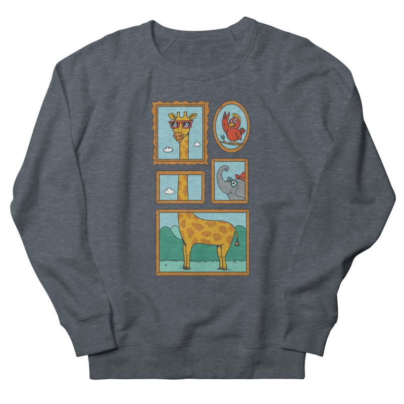 Animals Women's French Terry Sweatshirt by coffeeman's Artist Shop